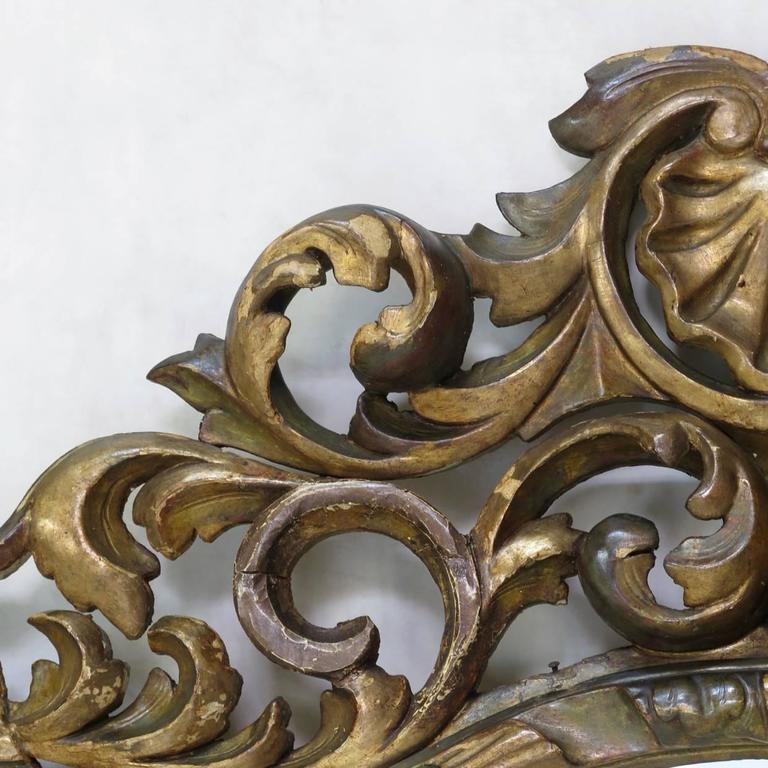 French Large Baroque Sculpted Mirror, France, 19th Century For Sale