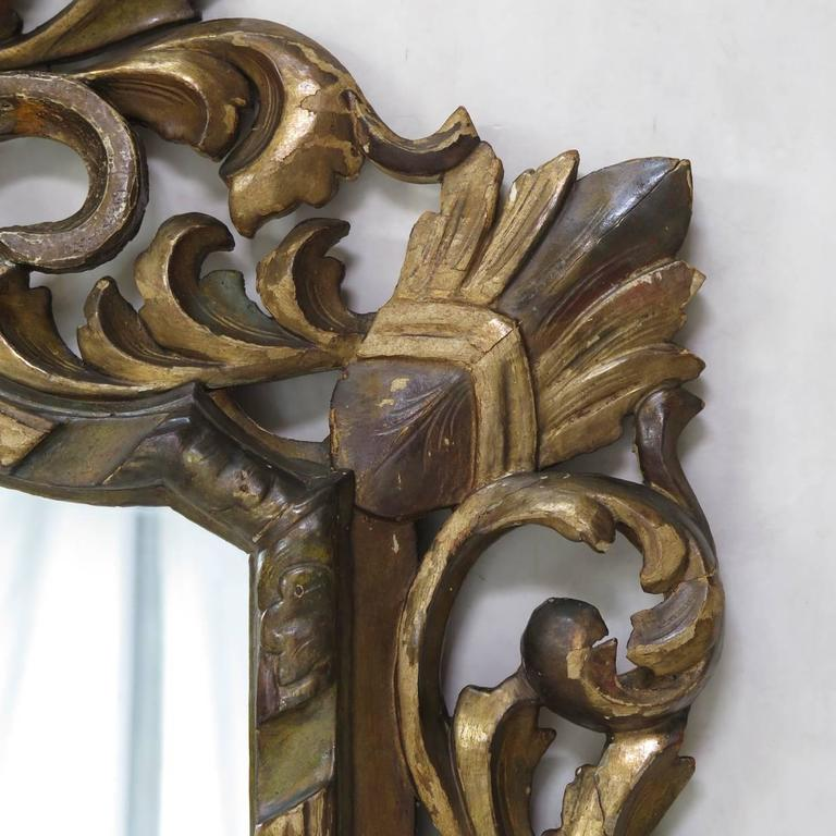 Large Baroque Sculpted Mirror, France, 19th Century For Sale 2