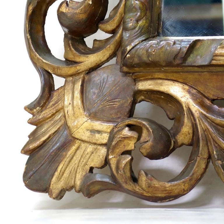 Large Baroque Sculpted Mirror, France, 19th Century For Sale 3