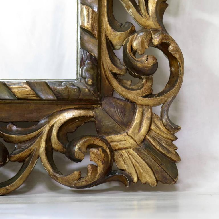 Large Baroque Sculpted Mirror, France, 19th Century For Sale 5