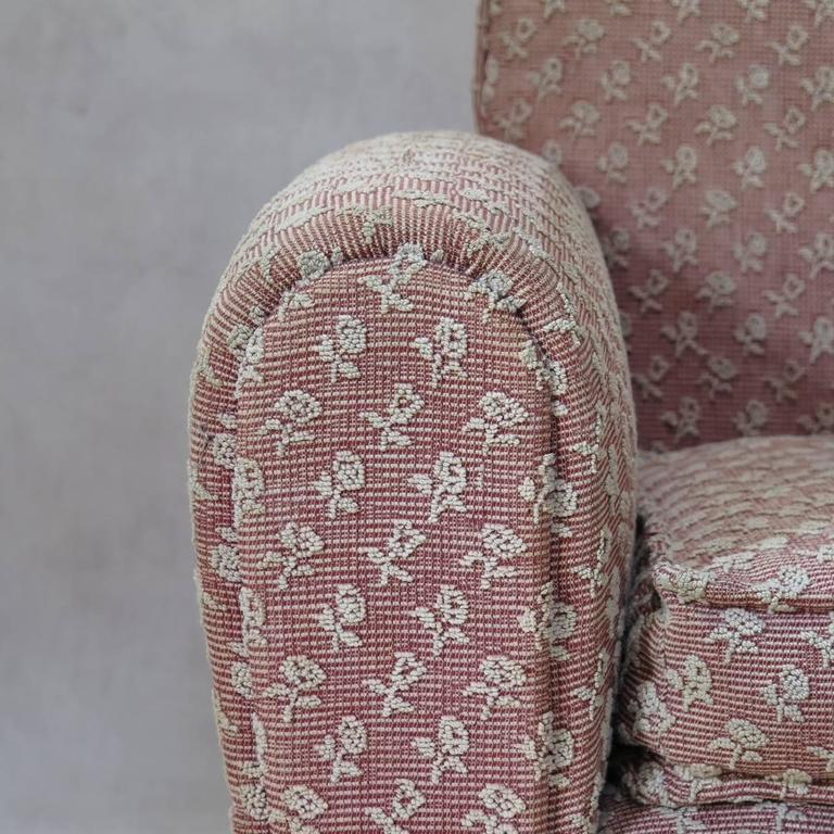 Pair of Art Deco Upholstered Club Chairs, France, circa 1930s For Sale 2
