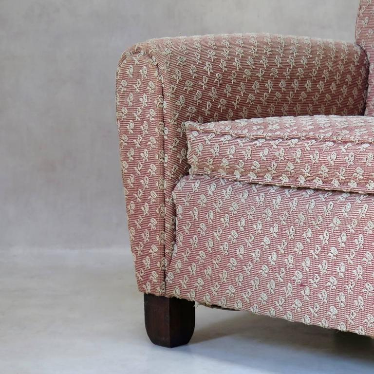Pair of Art Deco Upholstered Club Chairs, France, circa 1930s For Sale 1