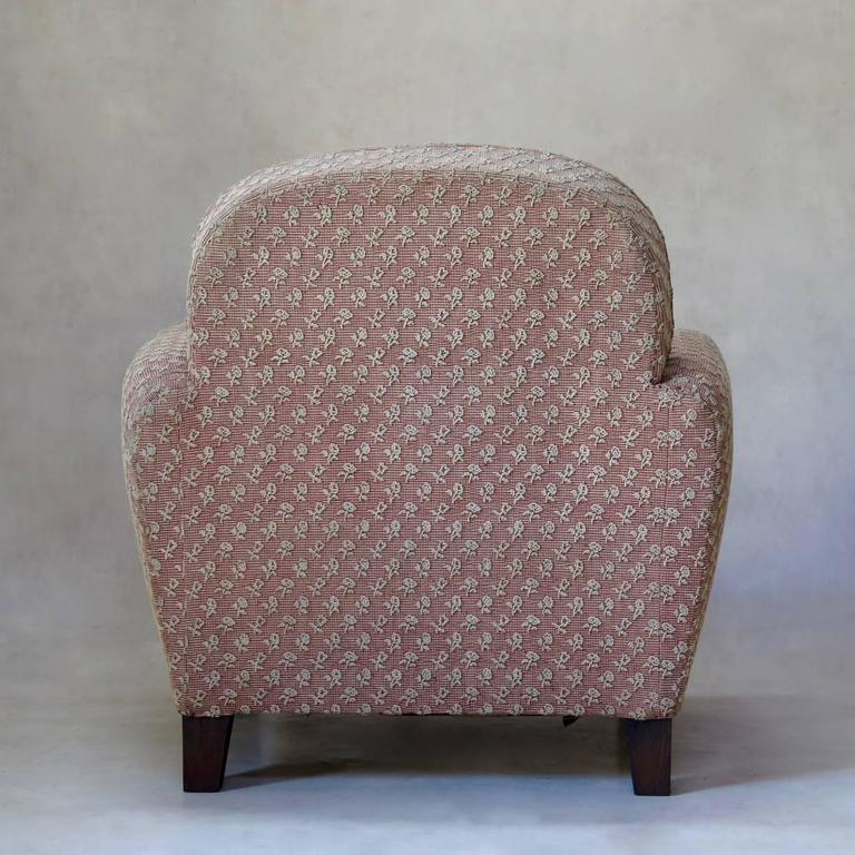 20th Century Pair of Art Deco Upholstered Club Chairs, France, circa 1930s For Sale