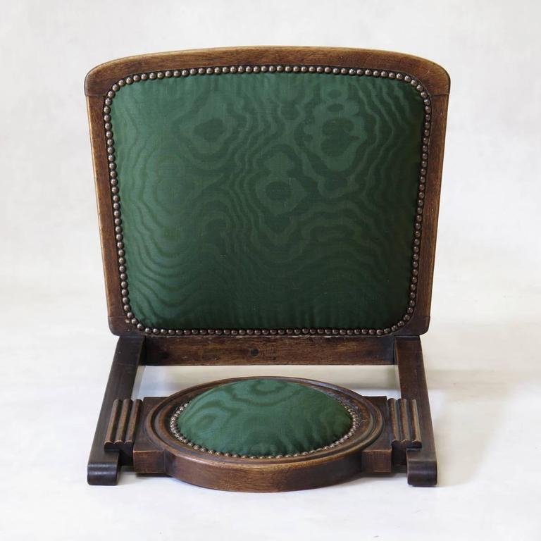 Set of Six Oak Art Deco Dining Chairs, France, circa 1930s For Sale 5