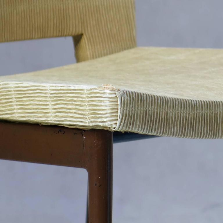 Set of Four Faux-Rush Dining Chairs Attributed to Colette Gueden, France, 1950s For Sale 1