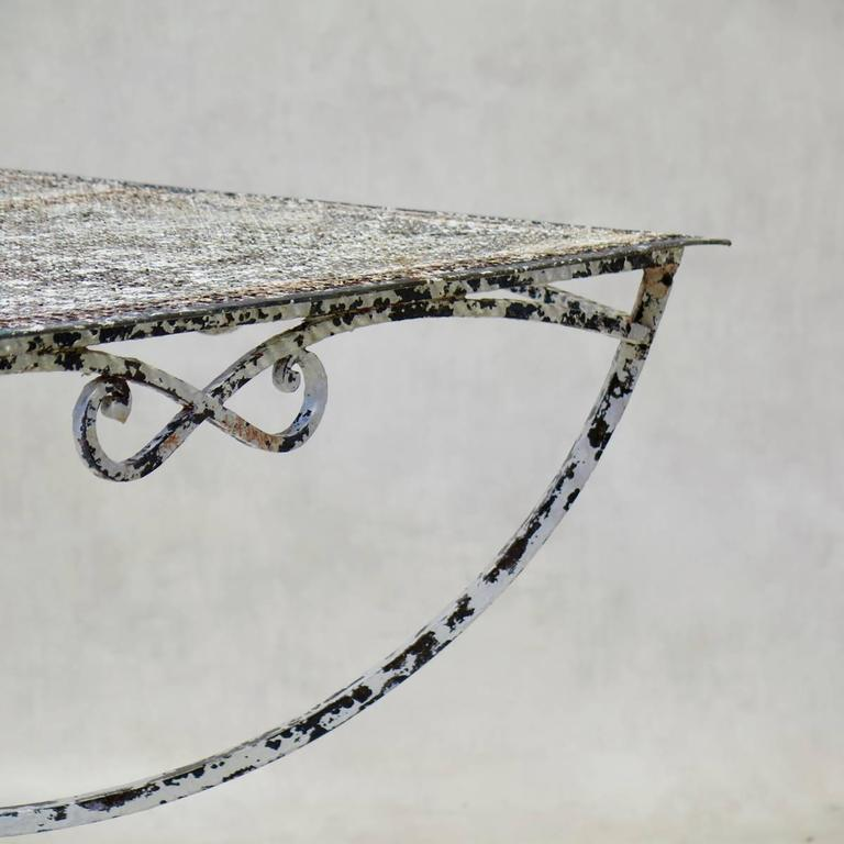 French Large Maison Jansen Garden Table, France, 1950s For Sale