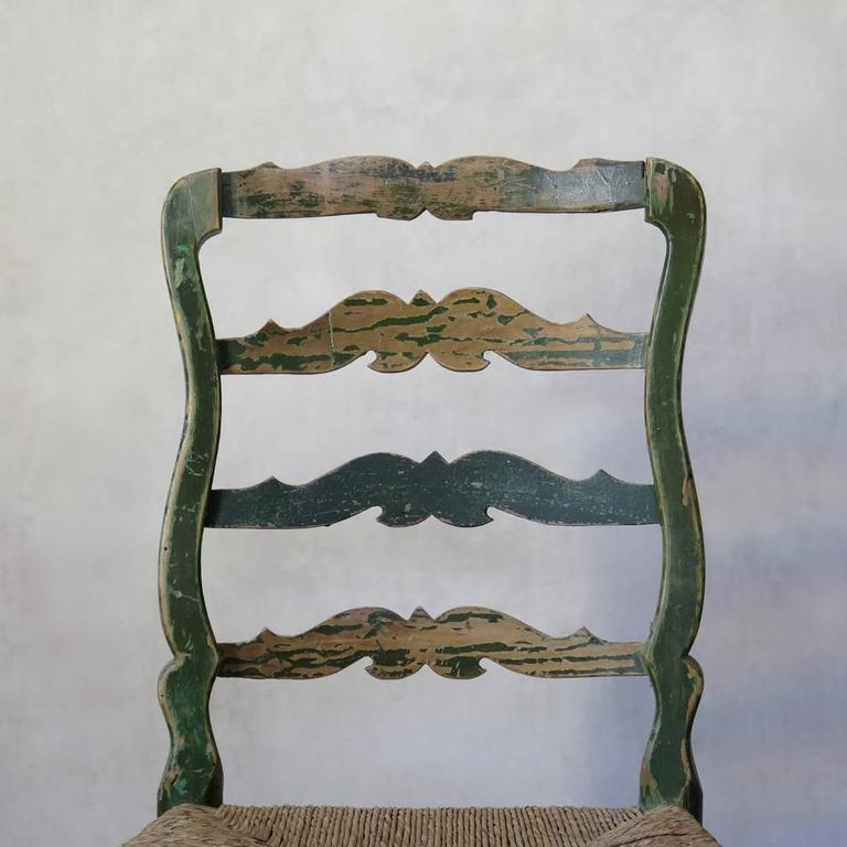 French 18th Century Country Style Chairs In Fair Condition For Sale In Isle Sur La Sorgue, Vaucluse