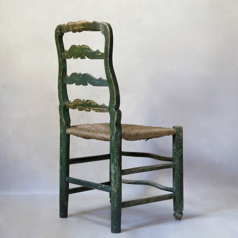 Painted French 18th Century Country Style Chairs For Sale