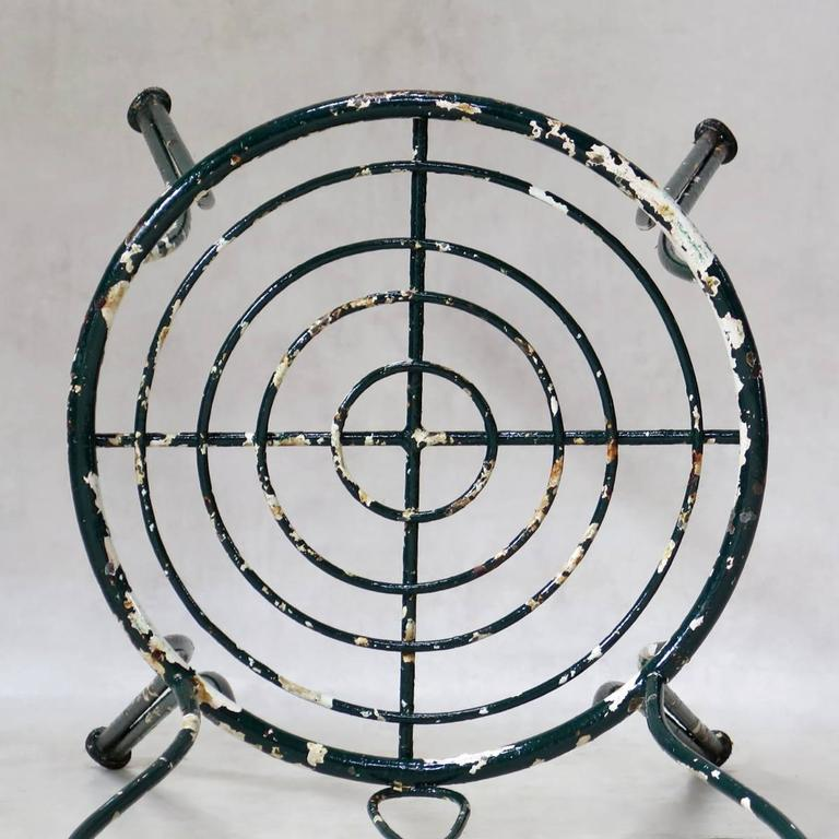 Intricately Wrought-Iron Garden Chair and Table, Set, France, 1950s For Sale 2