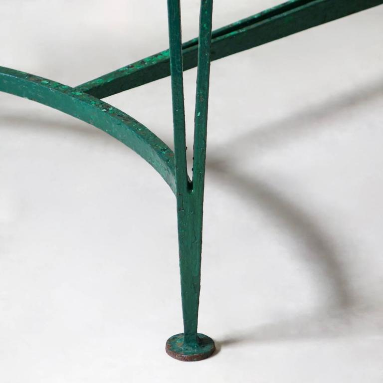 French 1940s Art Deco Iron and Granite Table For Sale 3