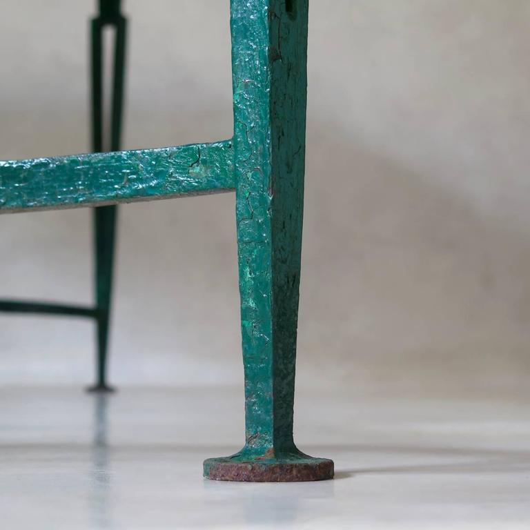 French 1940s Art Deco Iron and Granite Table For Sale 4