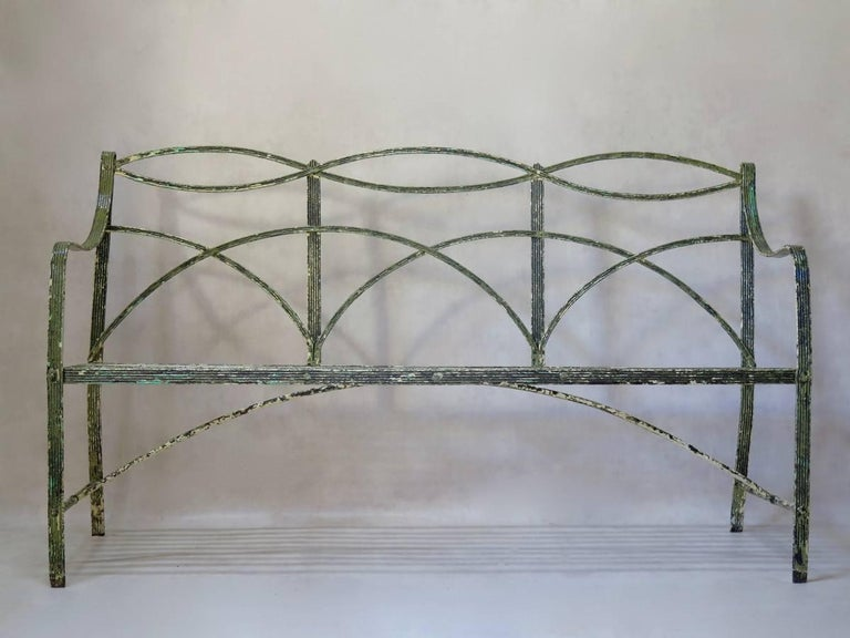 Regency Iron Bench, England, Early 19th Century 2