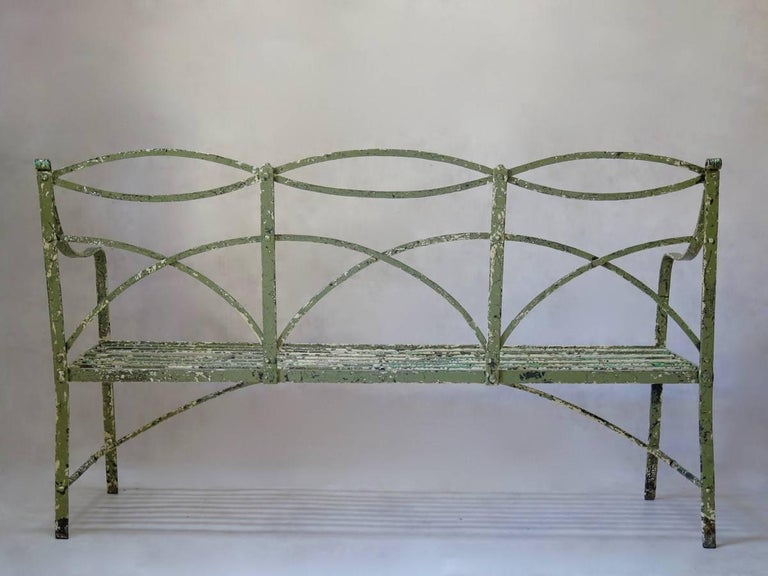 Regency Iron Bench, England, Early 19th Century 9