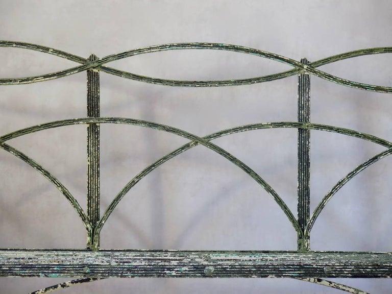 Regency Iron Bench, England, Early 19th Century 3