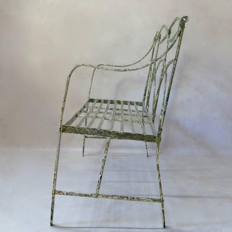 Regency Iron Bench, England, Early 19th Century 7