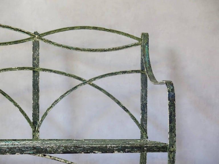 Regency Iron Bench, England, Early 19th Century 4