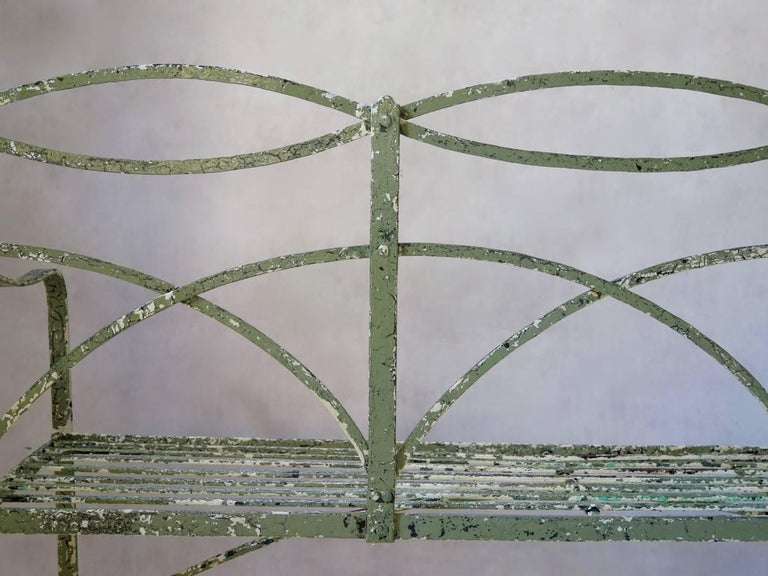 Regency Iron Bench, England, Early 19th Century 10
