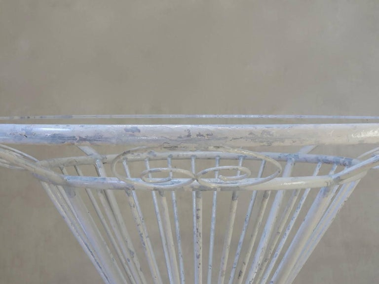 Painted French 1950s Dining Table For Sale