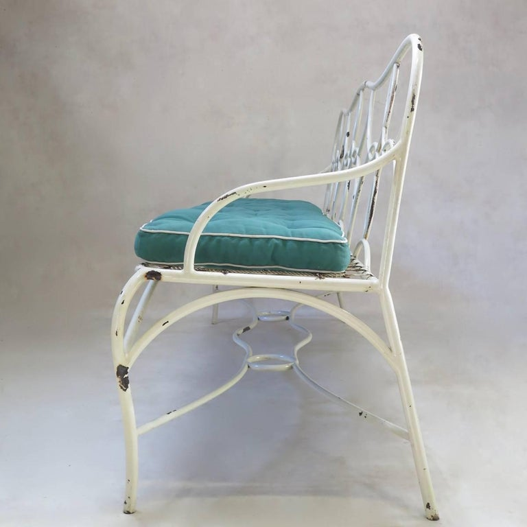 20th Century French 1950s Long Garden Bench For Sale