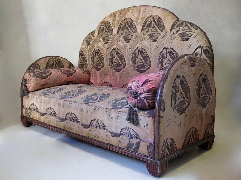 20th Century French Art Deco Settee For Sale