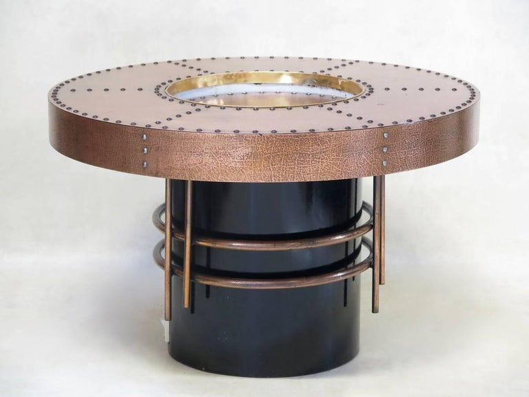 Pair Of Copper Coffee Tables France Circa 1970s For Sale