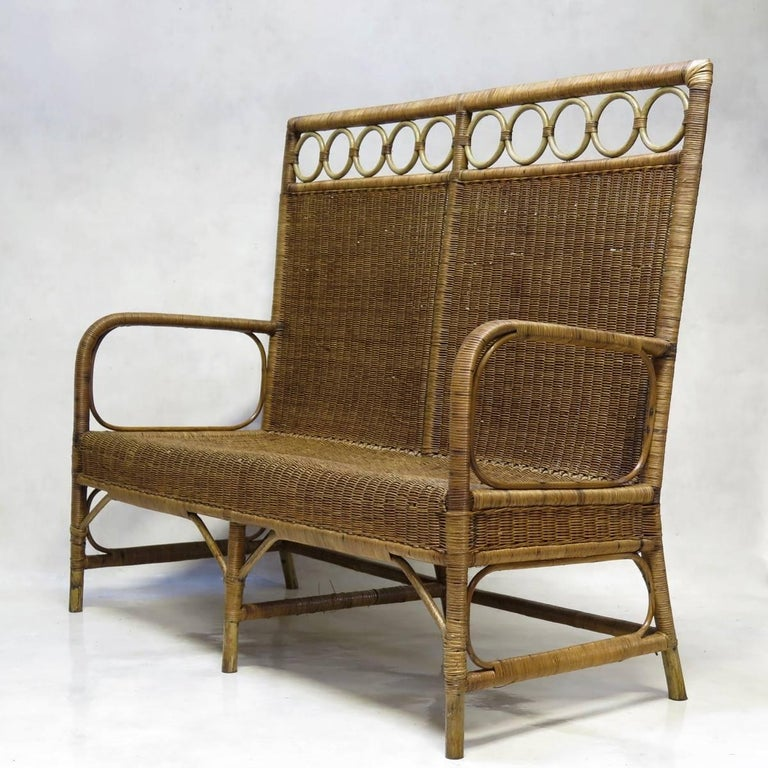 20th Century 1920s French Wickerwork Set For Sale