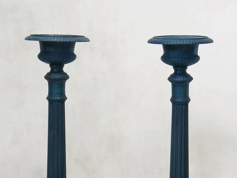 Set of Four French 19th Century Candle Sticks For Sale 1