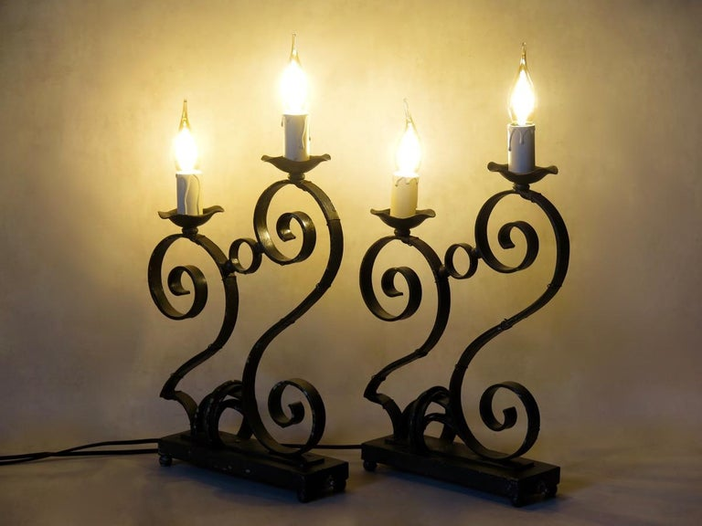 French 1930s Art Deco Table Lamps In Good Condition For Sale In Isle Sur La Sorgue, Vaucluse