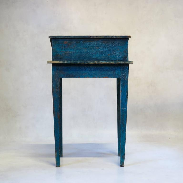 Painted Writing Desk, France, circa 1850s For Sale 3