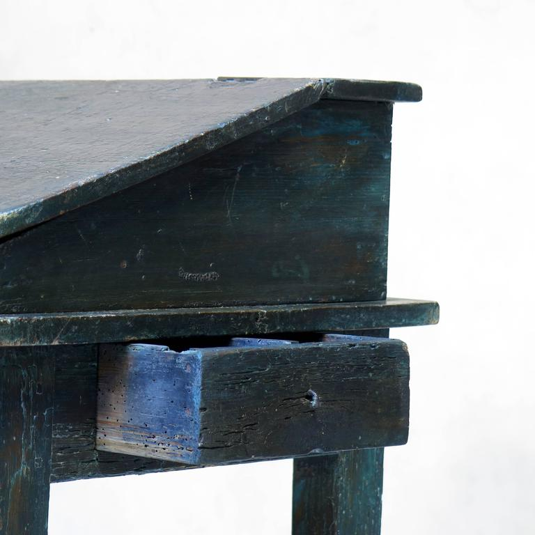 Louis XVI Painted Writing Desk, France, circa 1850s For Sale