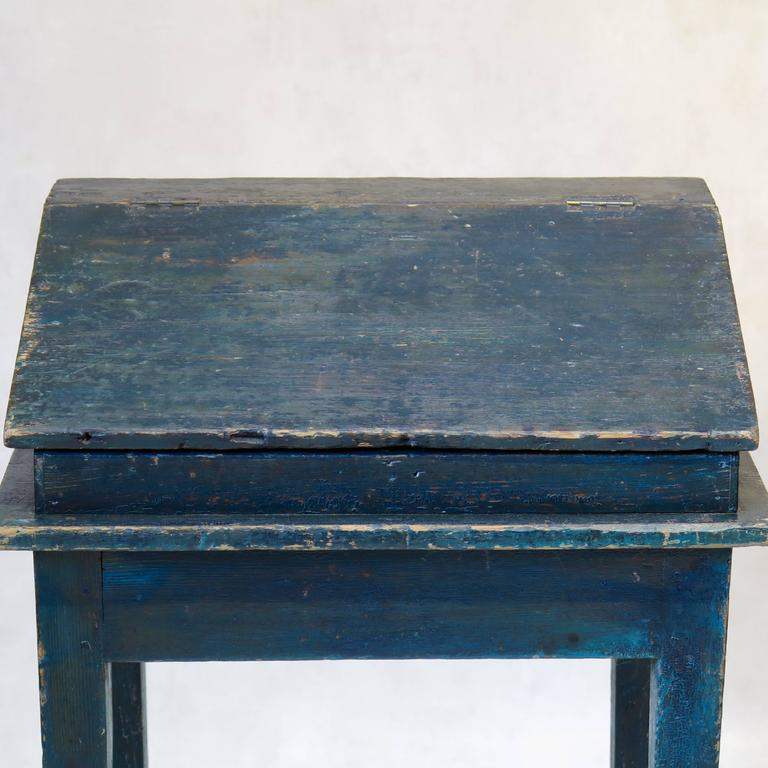 19th Century Painted Writing Desk, France, circa 1850s For Sale