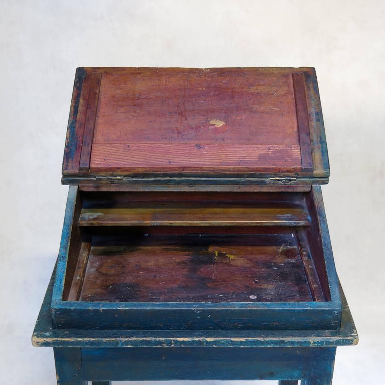 Painted Writing Desk, France, circa 1850s For Sale 1
