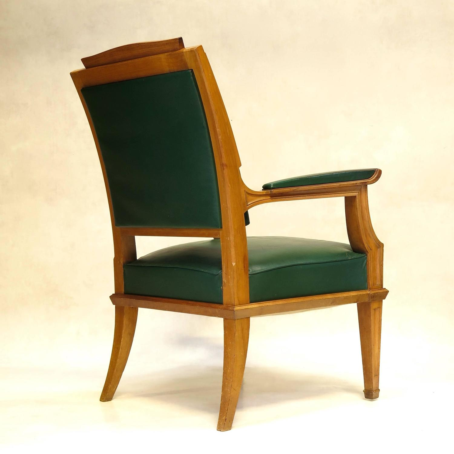 French 1940s Neoclassical Style Desk Chair For Sale at 1stdibs