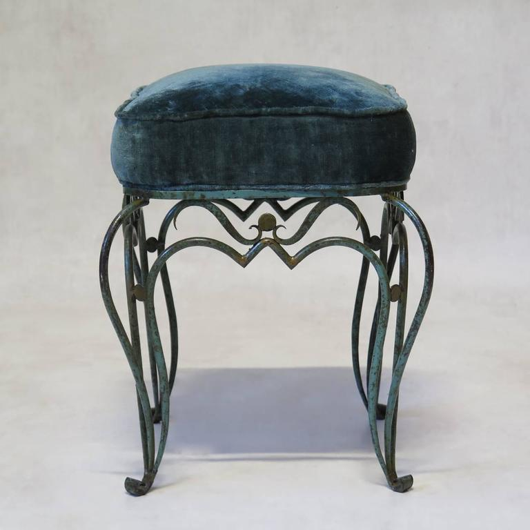 Elegant Pair Of French 1940s Stools For Sale At 1stdibs