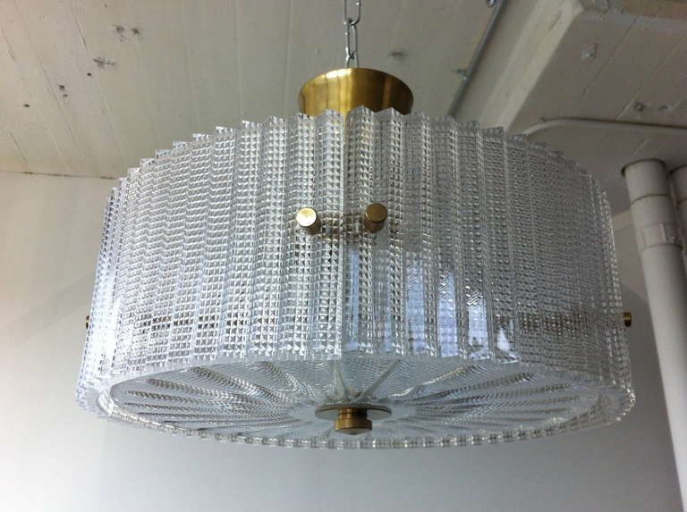 Scandinavian Modern Pendant by Carl Fagerlund for Orrefors For Sale