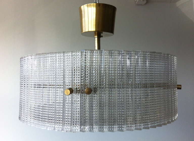 Pendant by Carl Fagerlund for Orrefors In Good Condition For Sale In Long Island City, NY