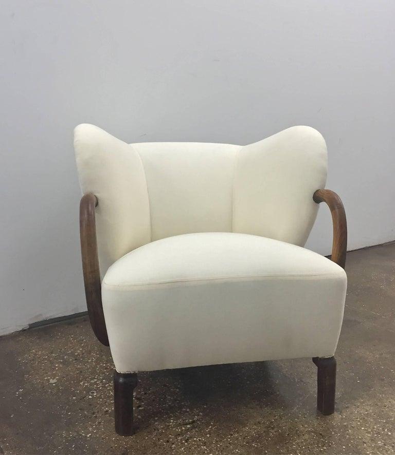 Scandinavian Modern Chair,  in the style of Viggo Boesen  For Sale