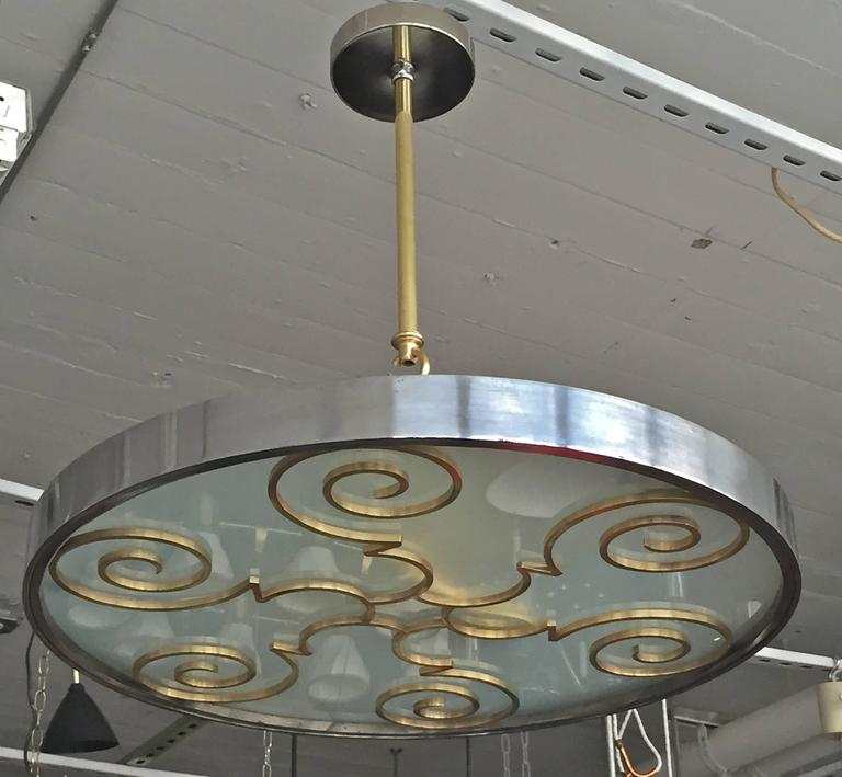 Chandelier by Lars Holmstrӧm for Arvika, 1930s 1
