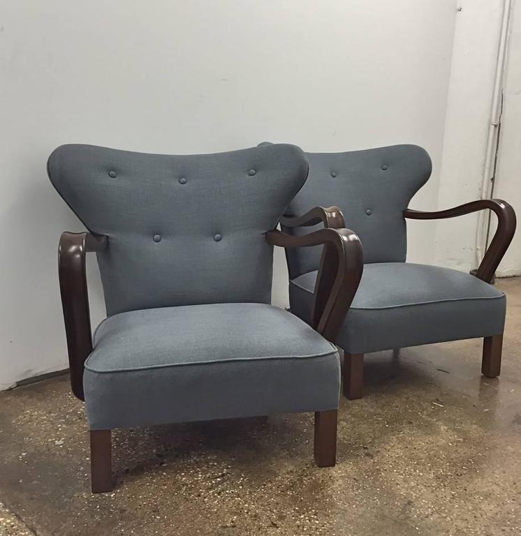 Scandinavian Modern Pair of Vintage Scandinavian Chairs For Sale