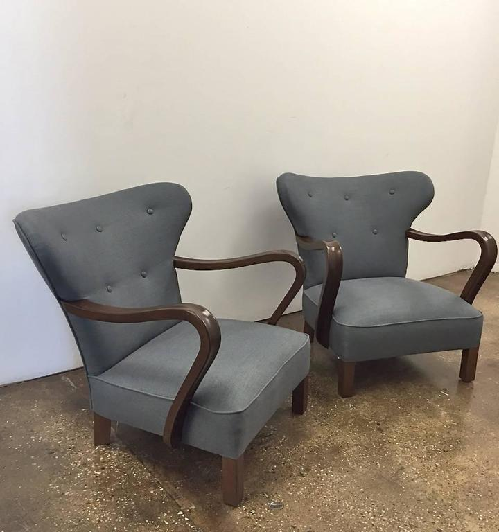 Pair of Vintage Scandinavian Chairs In Excellent Condition For Sale In Long Island City, NY