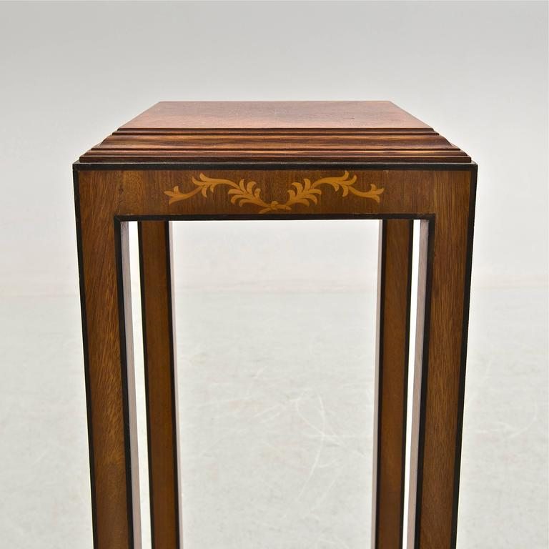 Scandinavian Modern Swedish Grace Mahogany Pedestal For Sale