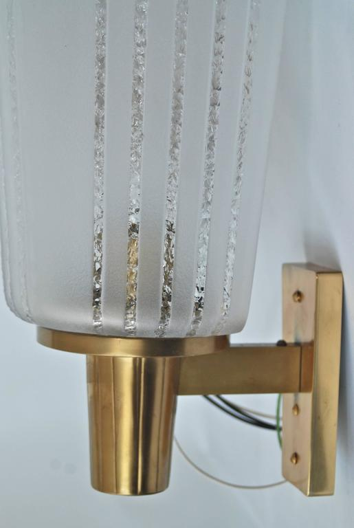 Large Art Deco Wall Sconces : Pair of Large Swedish Art Deco Wall Lights, circa 1940 For Sale at 1stdibs