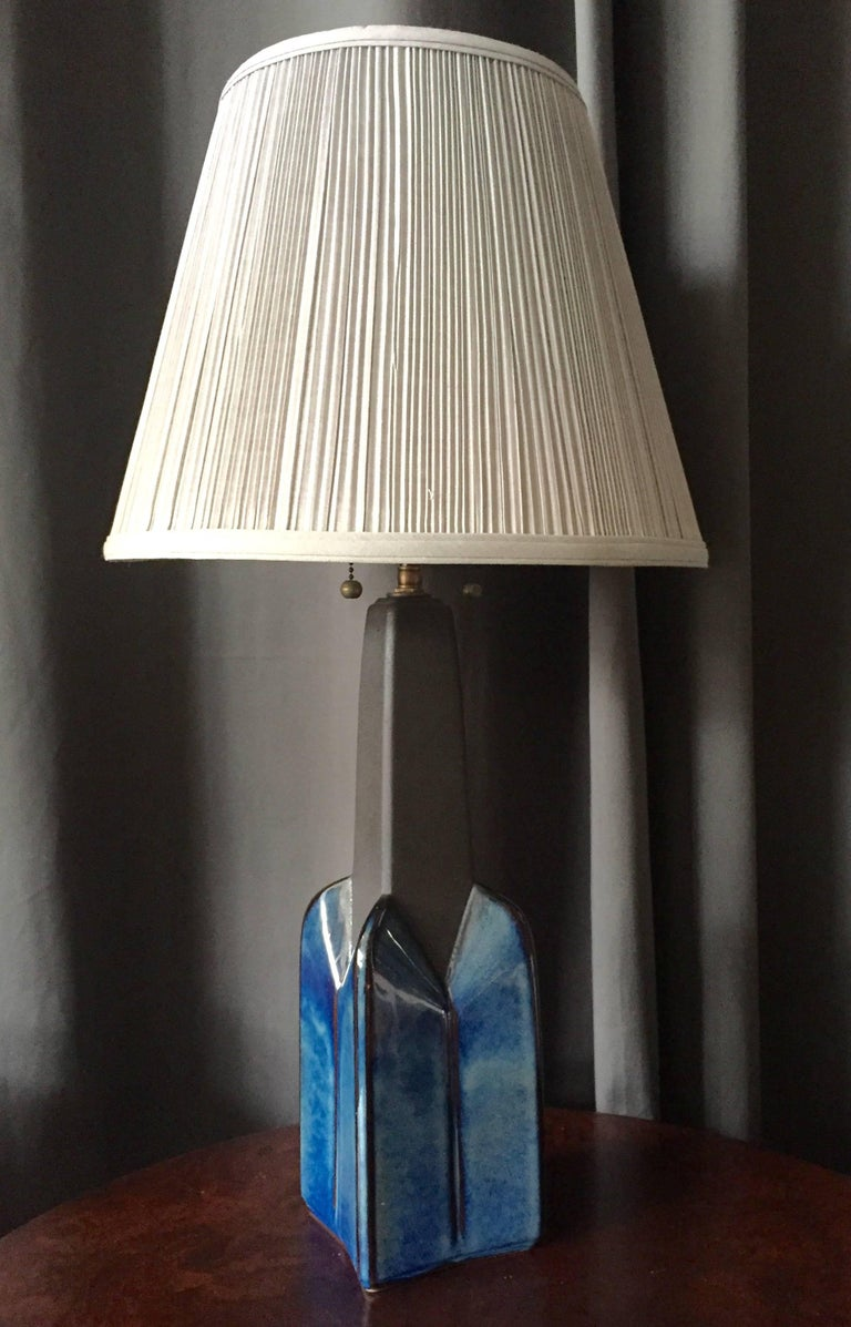 Scandinavian Modern A Pair of Table Lamps by Soholm Pottery For Sale