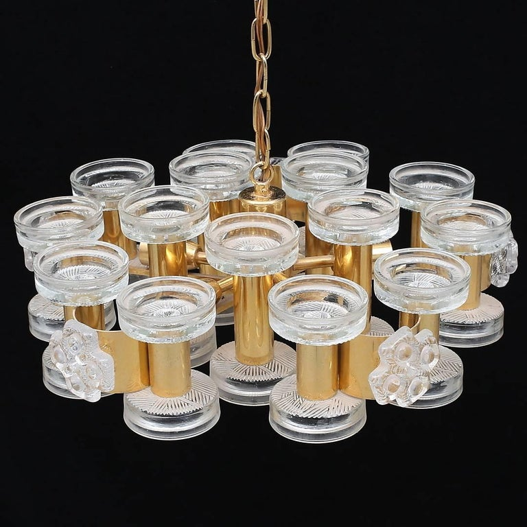 A pendant, design attributed to Carl Fagerlund for Orrefors, Sweden, circa 1960s.