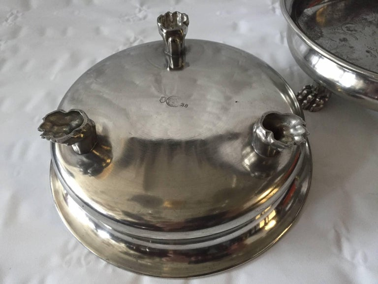Swedish Pair of Pewter Bawls by Anna Petrus For Sale