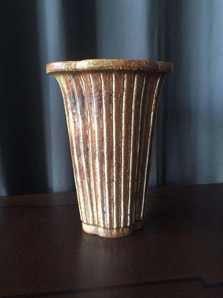 Scandinavian Modern Large Vase by Gunnar Nylund For Sale
