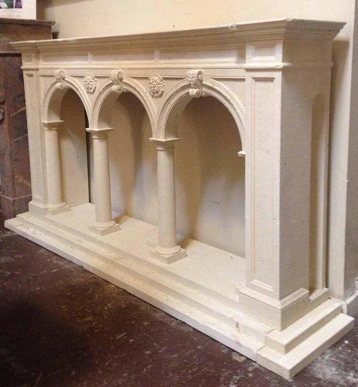 Modern Limestone Architectural Console For Sale at 1stdibs