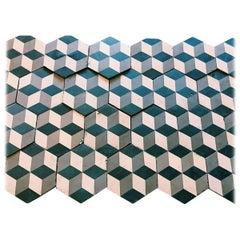 Reclaimed Geometric Flooring Tiles, circa 1900