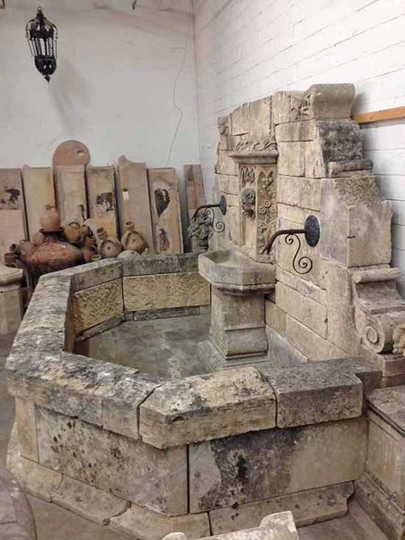 Antique Wall Fountain With Cherub Face At 1stdibs