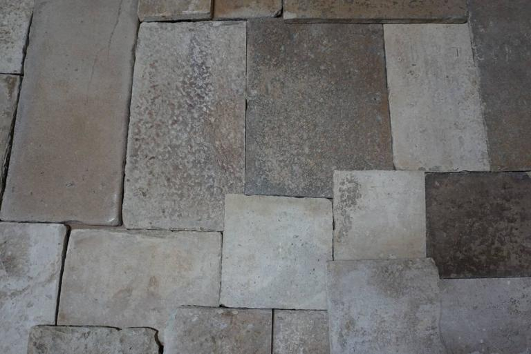 18th Century and Earlier 16th Century Reclaimed Antique Flooring from Burgundy, France For Sale